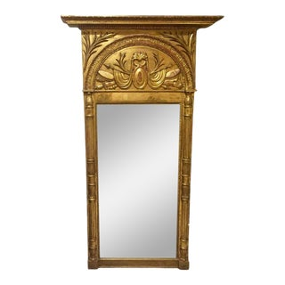 Antique Gustavian Giltwood Trumeau Mirror, 1800 For Sale