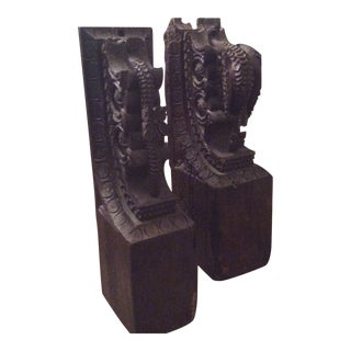 Antique Carved Corbels - A Pair