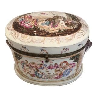Capodimonte Ram's Heads Vanity Box For Sale