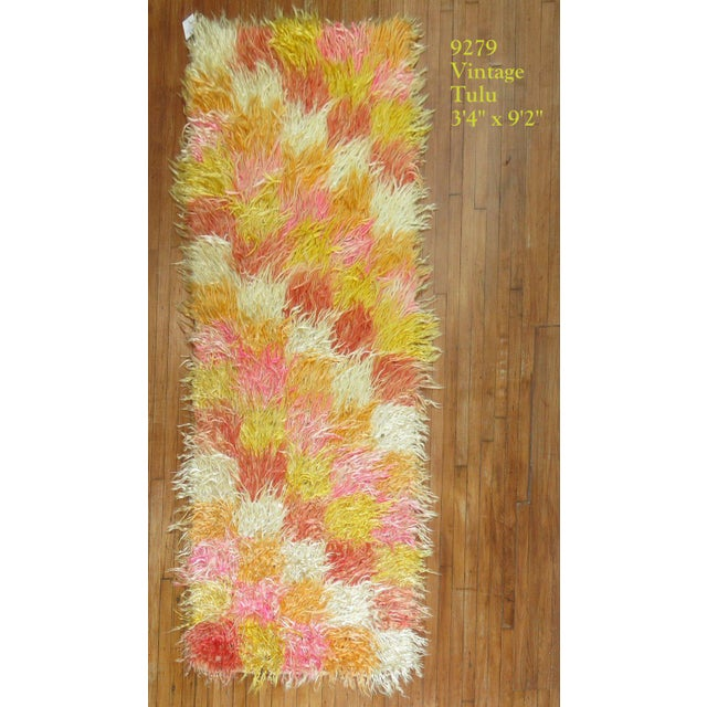 Textile Tulu Shag Runner, 3'4'' X 9'2'' For Sale - Image 7 of 7