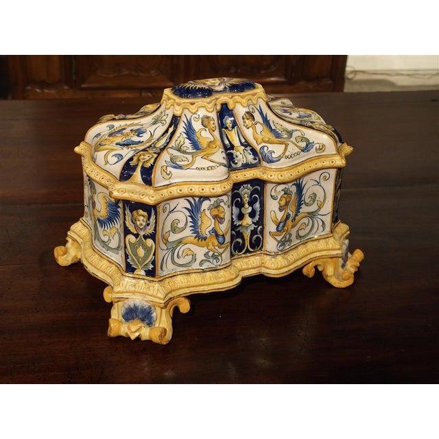 19th Century Italian Renaissance Style Majolica Box For Sale - Image 12 of 12