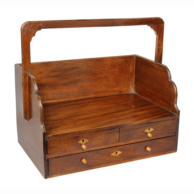 Brown George III Mahogany Book Carrier For Sale - Image 8 of 8