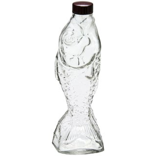 Vintage French Glass Fish Bottle