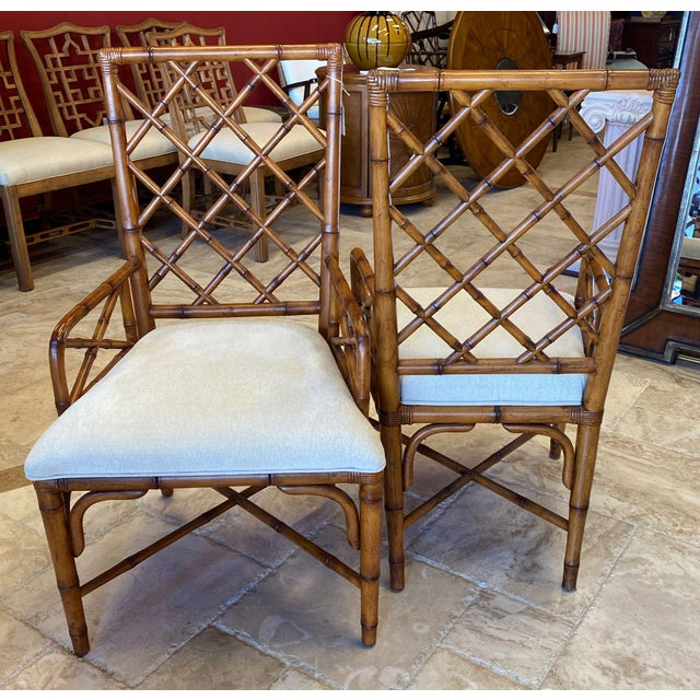 John and Elinor McGuire McGuire Style Bamboo Dining Chairs - Set of 8 For Sale - Image 4 of 13