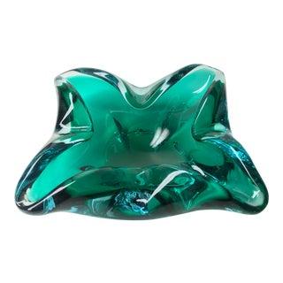 Green Murano Glass Ashtray Bowl