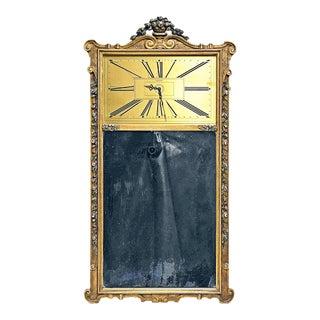 1920s Vintage Gilt Trumeau Mirror Clock For Sale