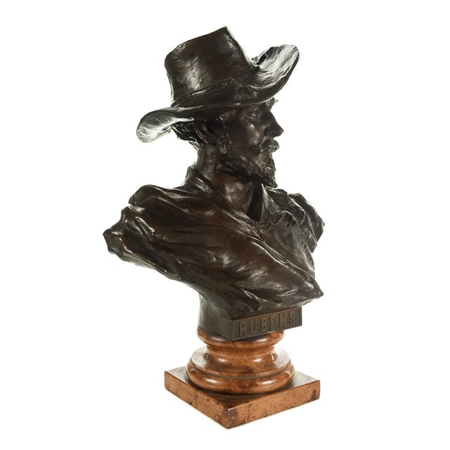 Mid 19th Century Rubens Bronze Bust Sculpture by H. Muller For Sale - Image 5 of 9