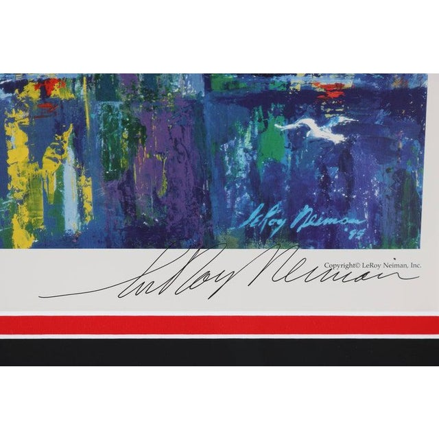 Impressionist 1995 Brooklyn Bridge Lithograph Ltd Ed Signed by American Artist LeRoy Neiman For Sale - Image 3 of 11