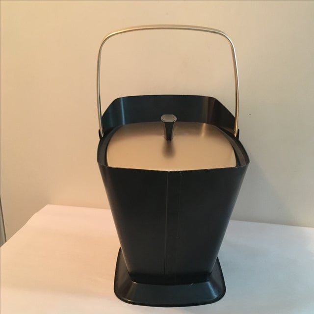 West Bend Retro Black & Gold Ice Bucket - Image 5 of 9