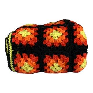 Handmade Vintage Crochet Blanket For Sale