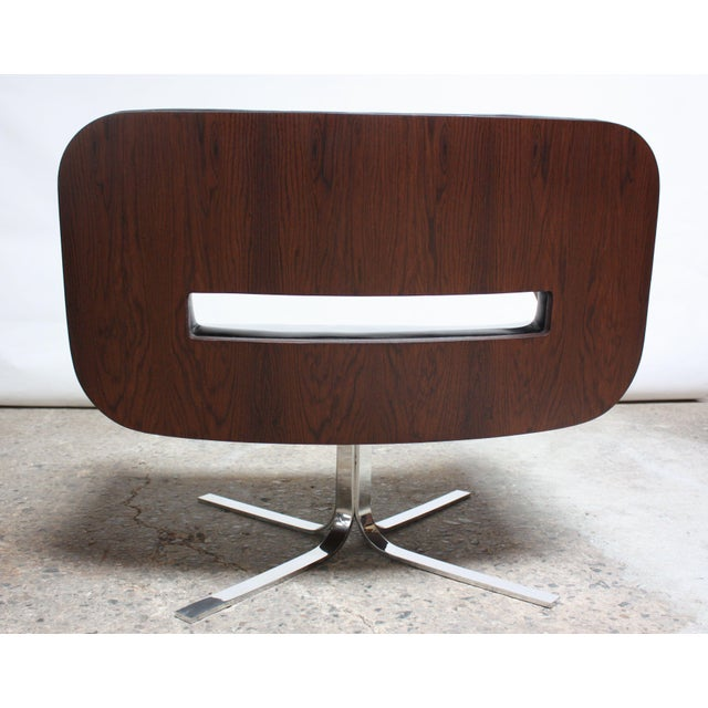 Brazilian Modern Jacaranda and Leather Swiveling Lounge Chair by Jorge Zalszupin For Sale In New York - Image 6 of 13