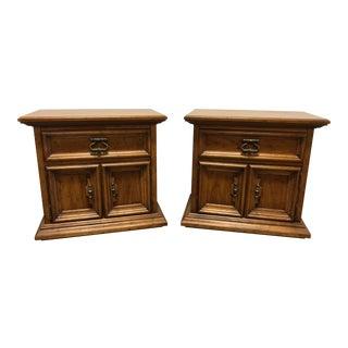 Drexel Heritage Velero Southwestern Style Nightstands - A Pair