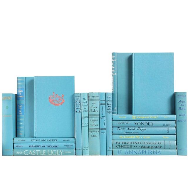 Cerulean Blue Mid-Century Books - Set of 20 - Image 1 of 2