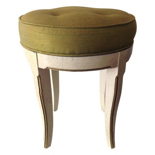 Vintage Italian Florentine Vanity Stool For Sale