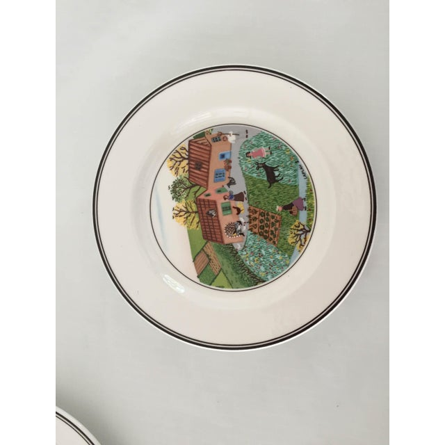 French Villeroy & Boch Luxembourg Decorative Bread/Dessert Plates - Set of 6 For Sale - Image 3 of 6