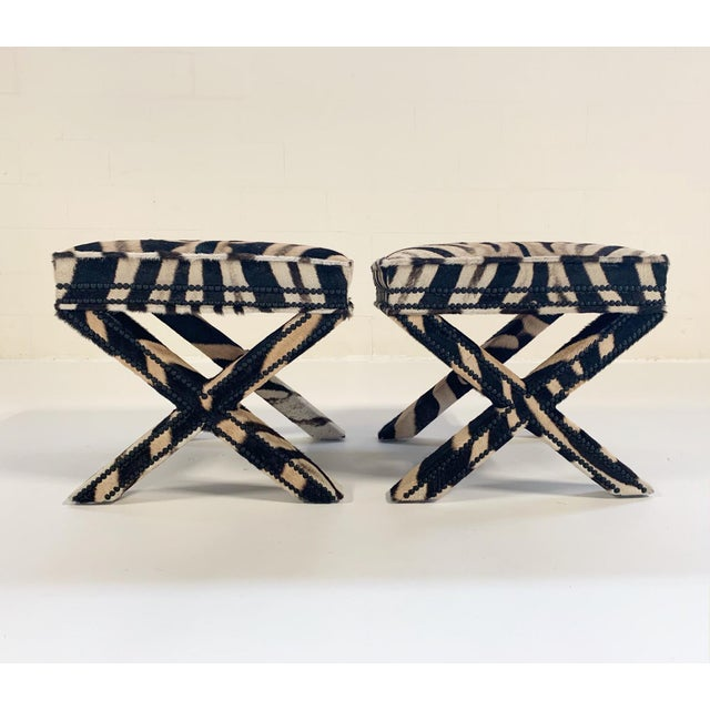 Stunning Billy Baldwin Style X Bench destined for an amazing room. This is glitter and gold and glamour! The work and...