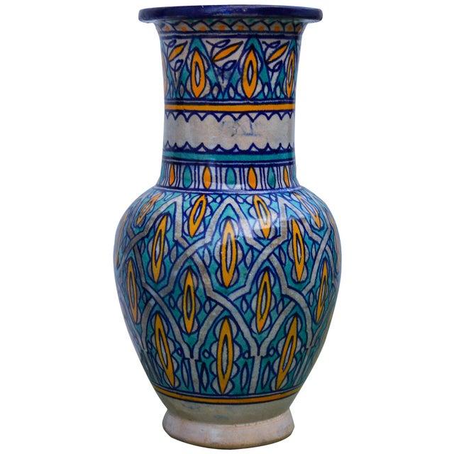 Antique Moorish Ceramic Vase For Sale - Image 4 of 8