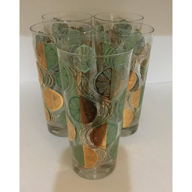 These glasses were made in the 1960s for highballs, iced tea or even perhaps lemonade. They are decorated with lemons or...