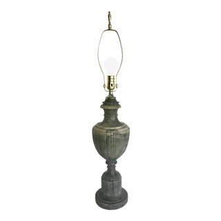 Mid 20th Century Green Veined Marble Alabaster Lamp