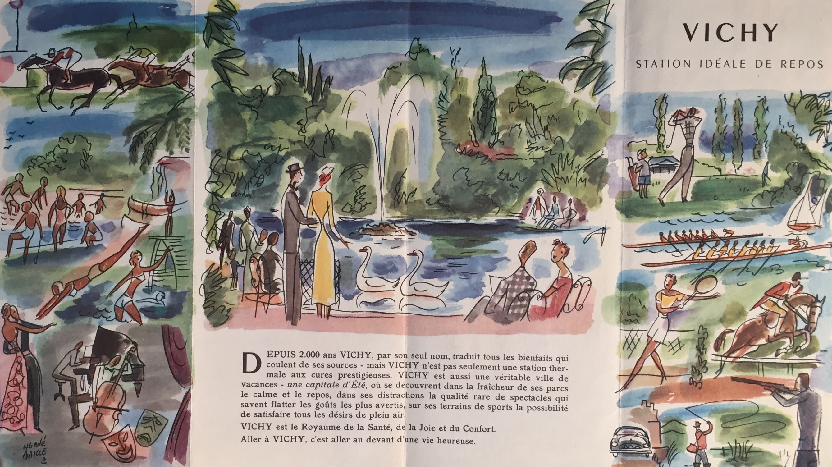 french travel brochure