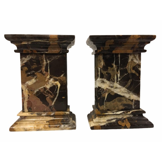 Neoclassical Vintage Neoclassical Marble Bookends - a Pair For Sale - Image 3 of 9