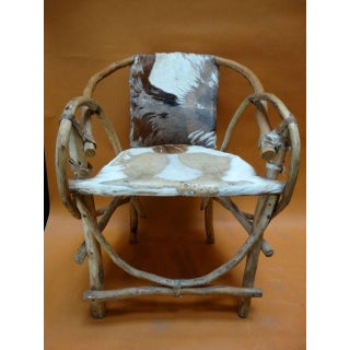 Rustic Mexican Cowhide & Bentwood Chair Preview