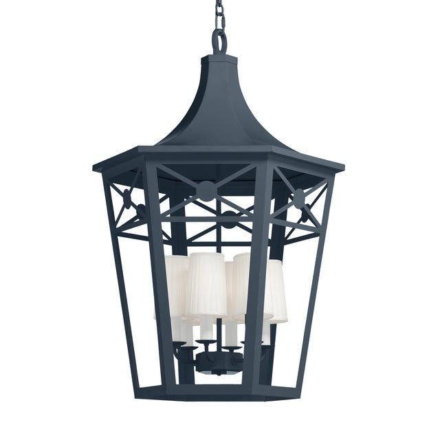 Casa Cosima Bennington Lantern, Hale Navy For Sale - Image 4 of 4