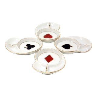 Mid-Century Poker Suit Ashtrays - Set of 4 For Sale