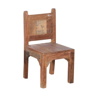 Salvaged Wood Children's Chair For Sale