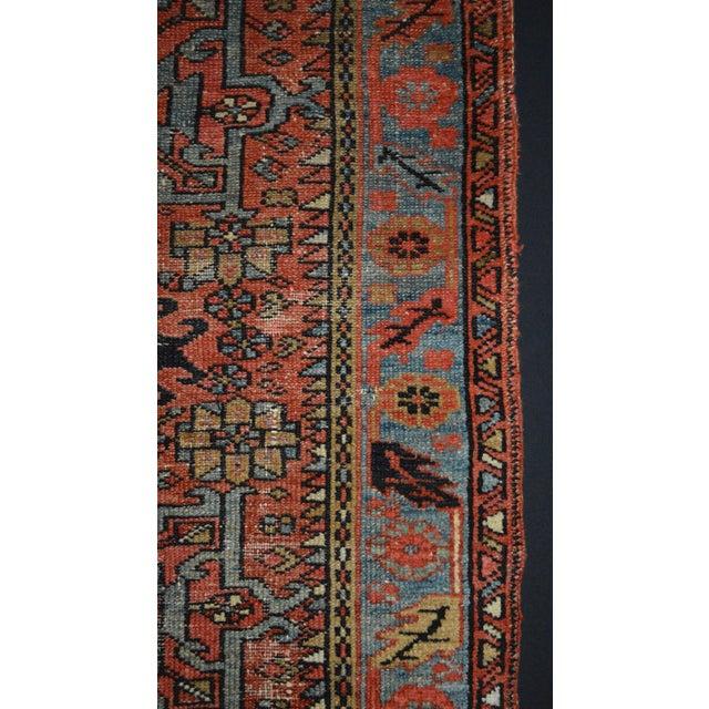 "Antique Persian Karaja Rug - 3'1"" x 4'3"" For Sale - Image 6 of 11"