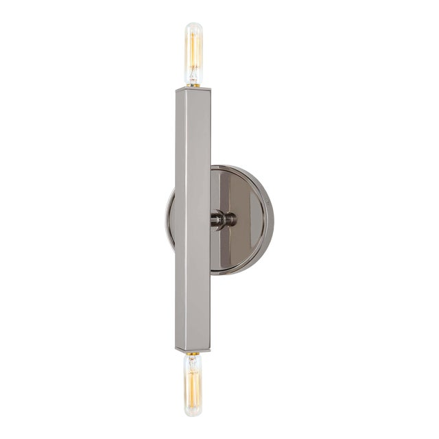 Viper Sconce in Polished Nickel For Sale