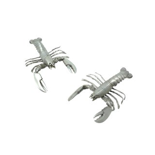 Vintage Pewter Crayfish or Lobster Figures - a Pair For Sale