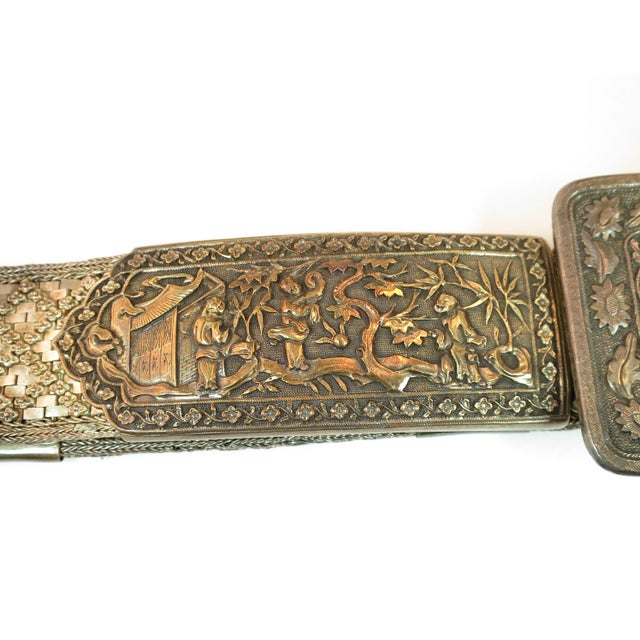 Early 19th Century Asian Silver Belt, China 1830s For Sale - Image 4 of 13