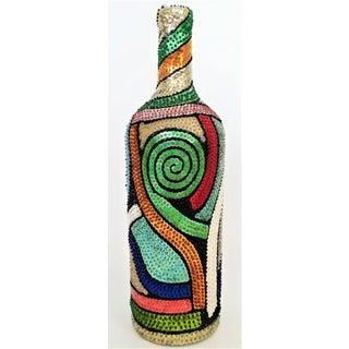 Vintage Haitian Voodoo Beaded Sequin Bottle Preview