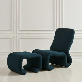 European Undulating Ribbon Chair and Ottoman, 1970s Preview
