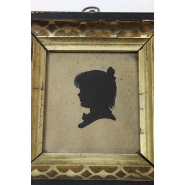 Antique Silhouette Miniatures - a Pair For Sale In New York - Image 6 of 9