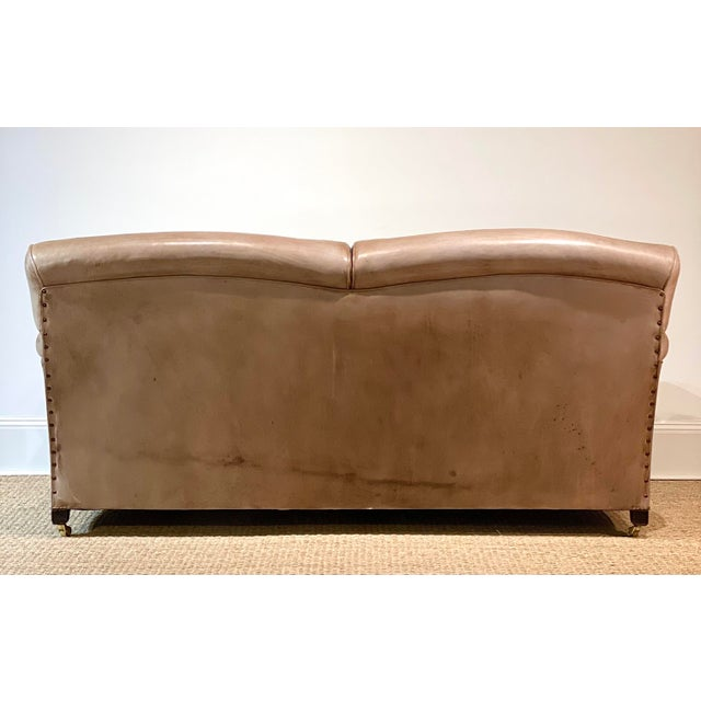 English George Smith Leather Sofa For Sale - Image 3 of 12