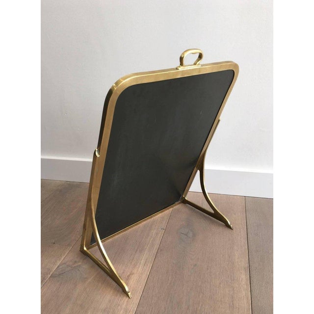 Brass Dressing Mirror Made for Shoes For Sale - Image 9 of 11
