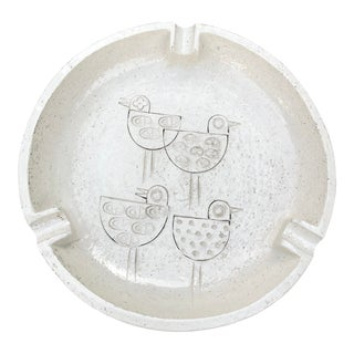 Vintage Mid-Century Modern Italian Ceramic Ashtray by Aldo Londi-Bitossi For Sale