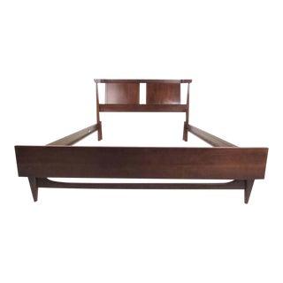 Vintage Modern Walnut Bedframe For Sale