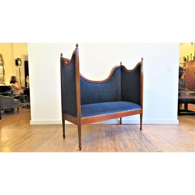 Antique Sheraton Style Settee For Sale - Image 9 of 13