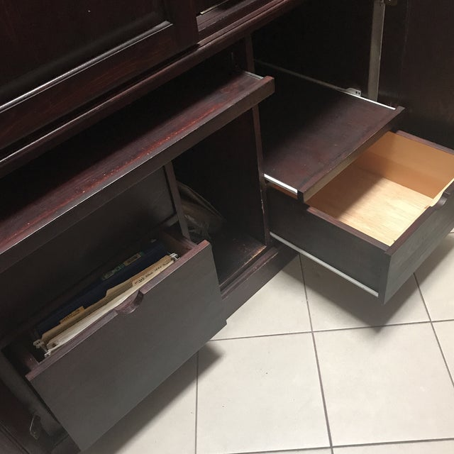 Armoire Desk Self Contained Office Workspace For Sale - Image 4 of 11