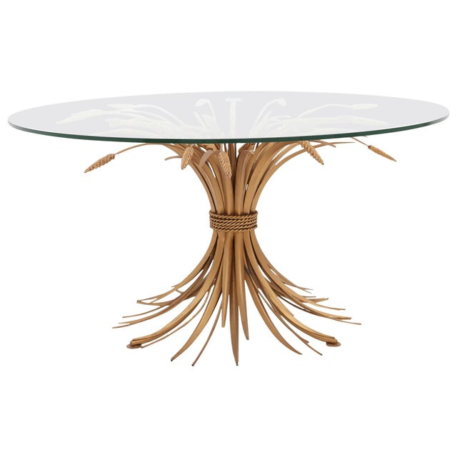 Gold Coco Chanel Wheat Sheaf Coffee Table For Sale - Image 8 of 8