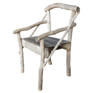 Early 20th Century Antique French Woodland Twig Arm Chair For Sale