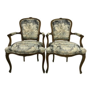 Louis XV Style Arm Chair For Sale