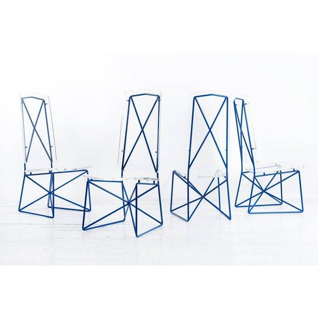 Mid-Century Modern Arturo Pani Prototype Steel and Lucite Chairs For Sale - Image 3 of 3