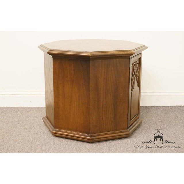 Brown American of Martinsville Octagonal Storage End Table For Sale - Image 8 of 10