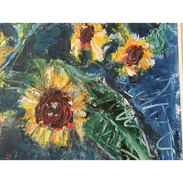 "Large ""Sunflower"" Painting by Trieste - Image 5 of 6"