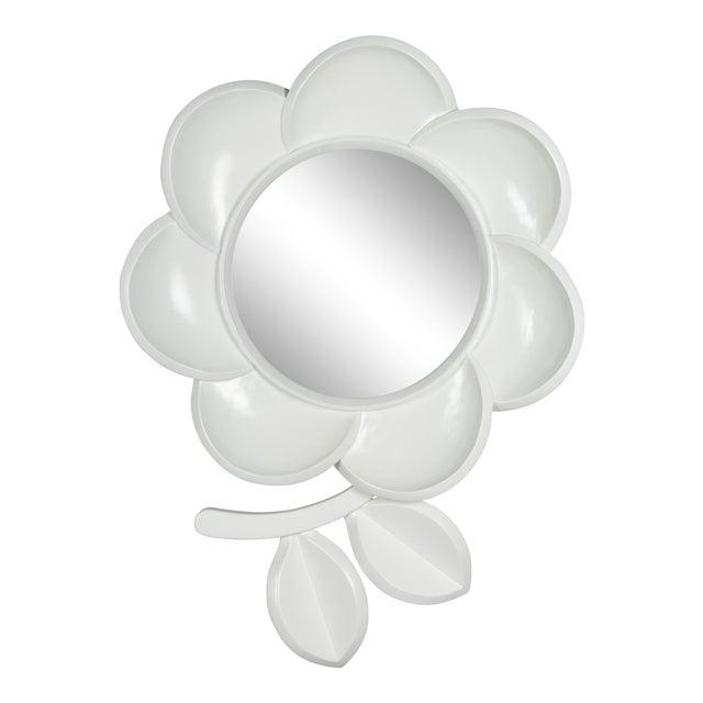 Mid Century Modern Pop Art Flower Mirror For Sale
