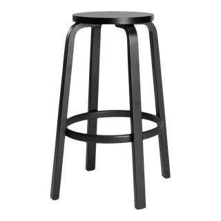 Authentic High Stool 64 Bar Stool in Black by Alvar Aalto & Artek For Sale